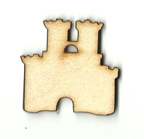 Sand Castle - Laser Cut Unfinished Wood Shape BLD61 from The Wood Shape Store