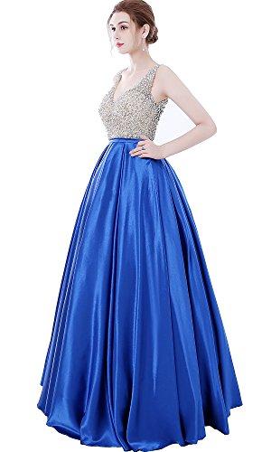 d20b377751 Home Brands MEILISAY Dresses Women s Sparkly Beaded Prom Dresses Ball Gowns  V-Neck Evening Formal Dresses Open Back Burgundy