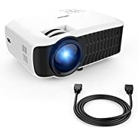 UL Standard Projector, +60% Brightness DBPOWER T22(2018 Upgraded) Mini LCD Projector, Supporting 1080P, Compatible with iPhone/iPad/TV Stick/Laptop PC/Smartphone for Multimedia Home Cinema Theater