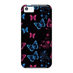 New Premium Flip Case Cover Butterfly Skin Case For Iphone 5c
