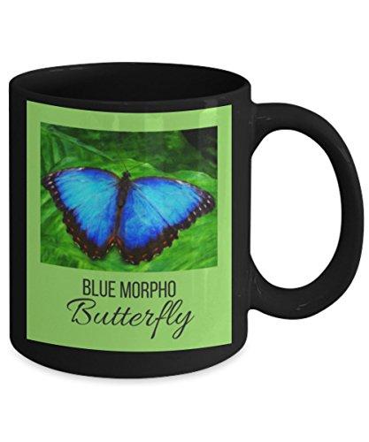 Costa Rica Blue Morpho Butterfly Mug - Morpho Menelaus
