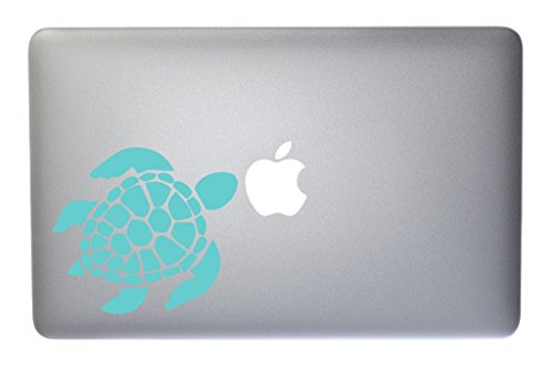 Price comparison product image Lovable Sea Turtle Vinyl Decal for Macbook, Laptop or other device 5 Inch (mint)