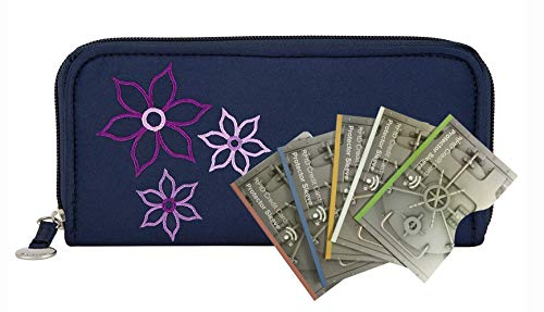 Travelon Rfid Blocking Bouquet Ladies Wallet with 5 RFID Blocking Sleeves - Royal Blue