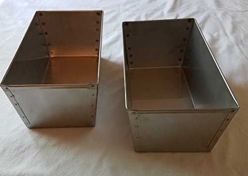 (2) Amish Made Stainless Steel Bread Pans for Bread, Cornmeal Mush, Scrapple, Pon Haus