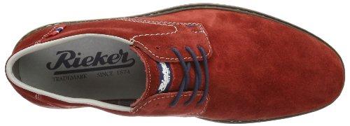 Rieker 640821-5 Herren Slipper Diego jeans, Gr.42 Rojo (mohn / 35)