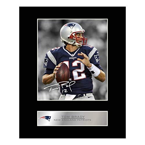 iconic pics Tom Brady Signed Mounted Photo Display New England Patriots