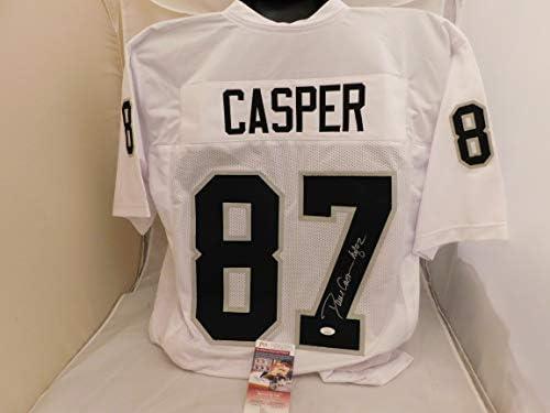 Amazon.com: DAVE CASPER Signed/Autographed Oakland Raiders White ...