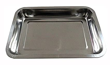 Happy Friends - Bandeja para Servir Rectangular Honda - Acero Inoxidable - 32*22*