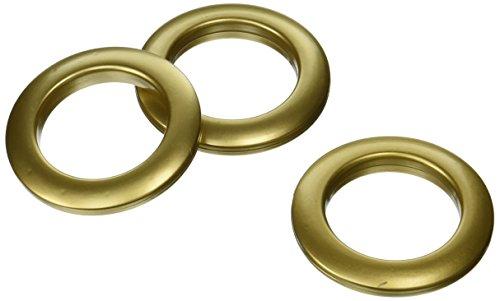 Dritz Home 44365 Round Curtain Grommets 19/16Inch Brass 8Piece