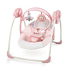 Ingenuity Bright Starts Soothe 'N Delight Portable Swing, Felicity Floral