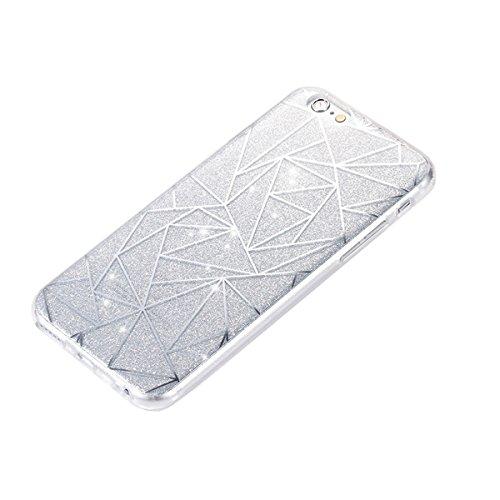 Funda para iPhone 6 6S, funda de silicona transparente para iPhone 6 6S, iPhone 6 6S Case Cover Skin Shell Carcasa Funda, Ukayfe caso de la cubierta de la caja protectora del caso de goma Ultra Delgad plateado