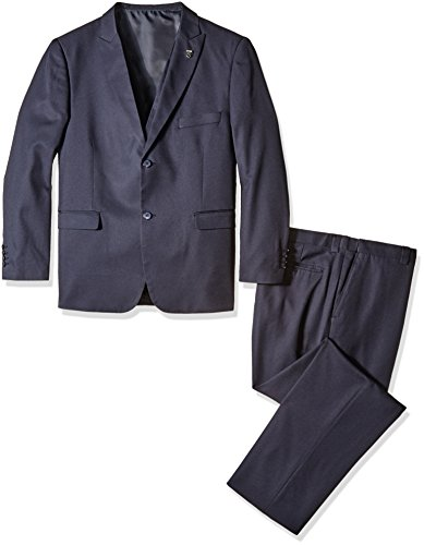 Stacy Adams Men's Big and Tall Bit Slim Fit Metro Vested Suit