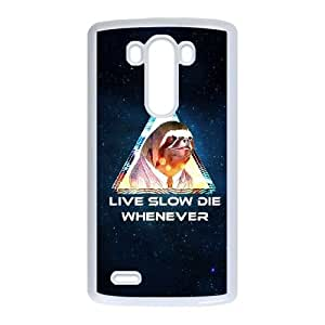 LG G3 Cell Phone Case White Live Slow Die Whenever VIU181179