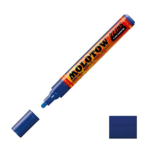 Molotow ONE4ALL Acrylic Paint Marker, 4mm, True Blue, 1 Each (227.206)