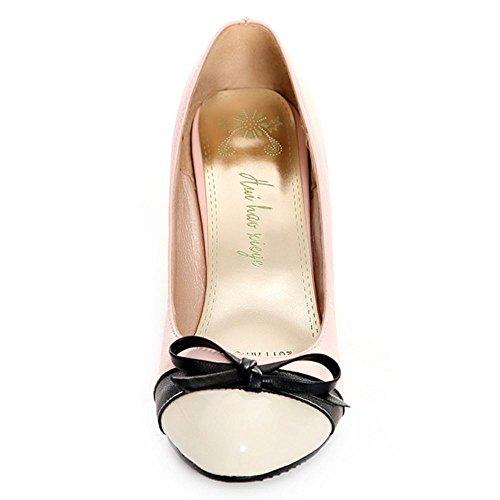de Fermé Elegant Multicolore Soiree Bout Escarpins Club Chaussures Haut RAZAMAZA Femmes Pink Talon Fg68qOn