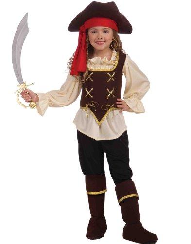 [Forum Novelties Buccaneer Girl Costume, Child Medium] (Bandit Child Costumes)