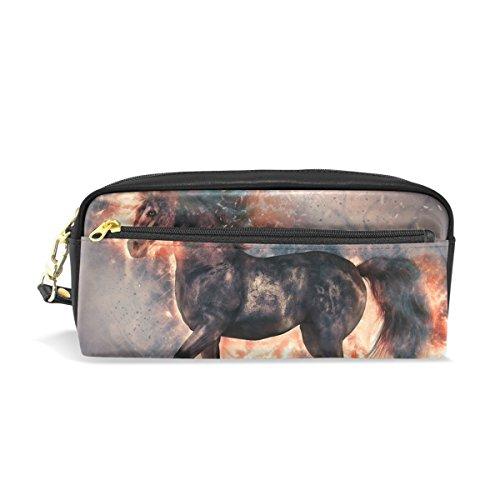 Box Of Nerds Candy Costume (Unicorn Pencil Case Portable Pen Organizer Bag PU Leather Large Capacity)