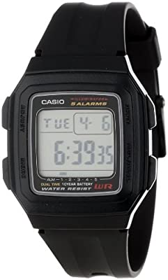 Casio Men's F201WA-1A Multi-Function Alarm Sports Watch