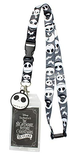 Nightmare Before Christmas ID Lanyard Badge Holder 25th Anniversary with 1.5