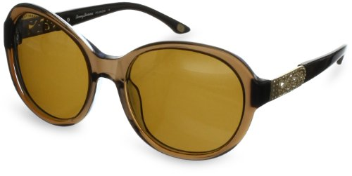 Tommy Bahama Glam Overboard TB7026 Polarized Oval Sunglasses,Brown,55 - Bahama Polarized Tommy Women's Sunglasses