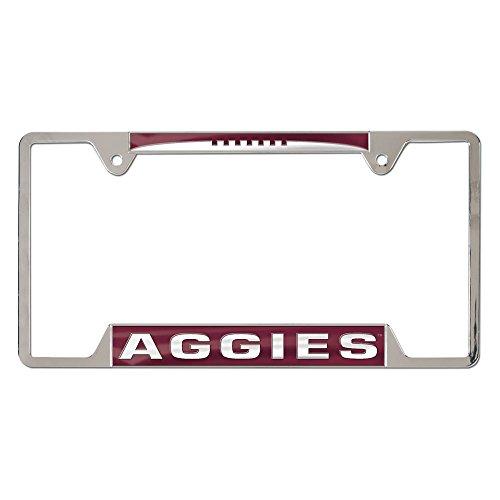 WinCraft NCAA Texas A&M Aggies Inlaid Metal License Plate Frame, 4-Tag ()