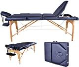 AVGDelas Black PU Reiki Portable Heigh Adjustable Massage Table w/Carry Case U9 Carry Case Facial Cradle Salon Tattoo Bed