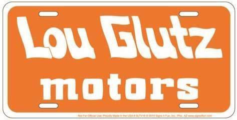 Supvivi National Lampoon Glutz Motors 12 x 6 Retro Tin Sign