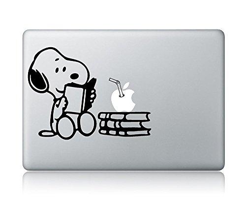 Snoopy Reading Apple Macbook Vinyl Decal Sticker Apple Mac A