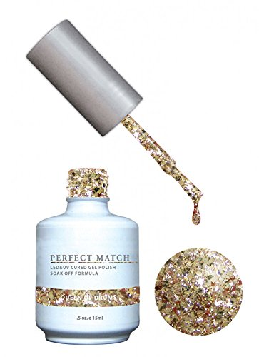LeChat Perfect Match Gel Polish + Nail Lacquer - Glitters (#89 - Queen Of Drums)