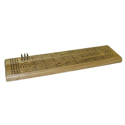 3 Track Wood Cribbage by Worldwise Imports