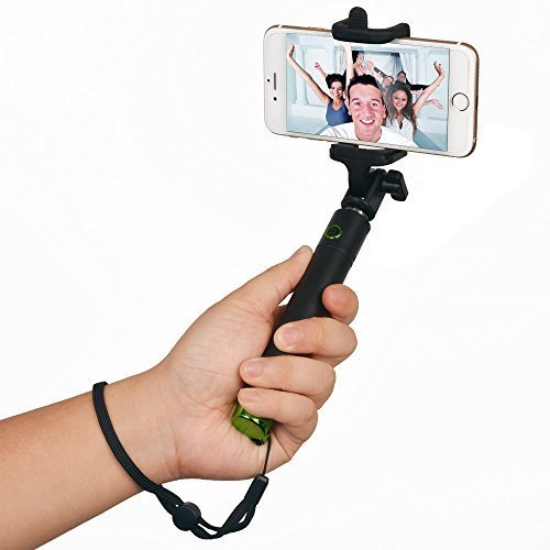 [Pocket Version] Selfie Stick, AGPTEK Battery Free - Extendable Wireless Cable Control Self-portrait Monopod Pole with Mount Holder for Apple iPhone 6/6Plus 5/5S/5C, iPod, Samsung Galaxy S6/S5/S4/S3, Note 3/2