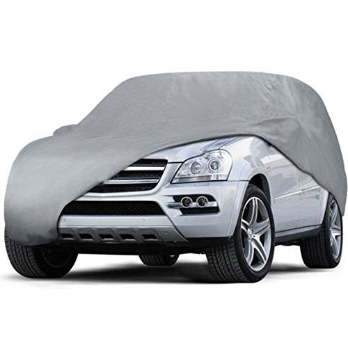 Ryzen RZ Series Car Cover - Waterproof Material and Seams w/ Soft Fleece Inner Lining and Scratchproof Grommets (SUV 160'' to 173'')