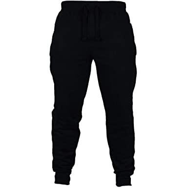 17da22271777 YOcheerful Mens Pant Jogger Pants Autumn Gym Sports Trousers Running  Sweatpants (Black