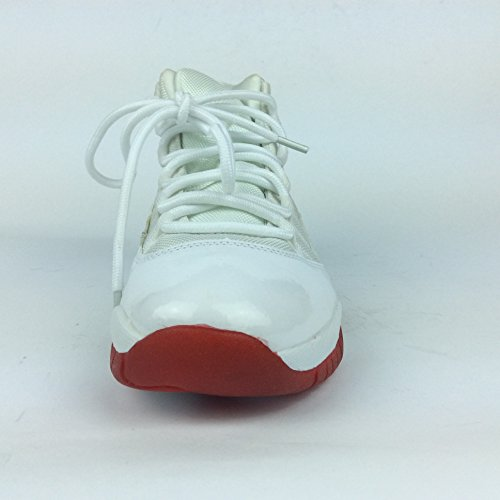 Labo Herren Low Top Basketballschuhe (Blau, Rot, Columbia Blue) Weiß und Rot