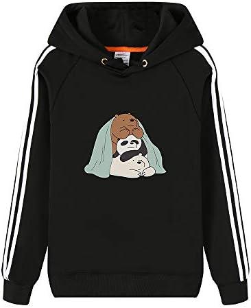 Vhunkjnr We Bare Bears Pullover Impresión con Capucha Linda de la Manera Simple Sudadera cómoda Sudadera Unisex Unisex