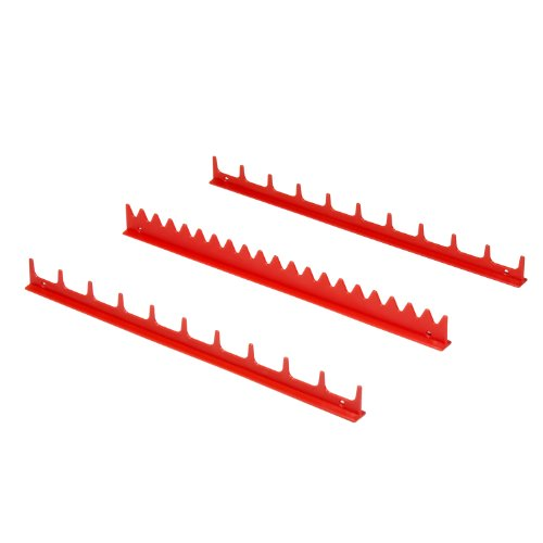 Ernst Manufacturing Screwdriver Rail Set with Magnetic Backing, 20 Tool, Red