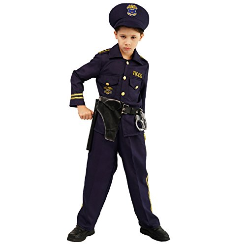 Childrens Police Officer Costumes (S), Navy Blue]()