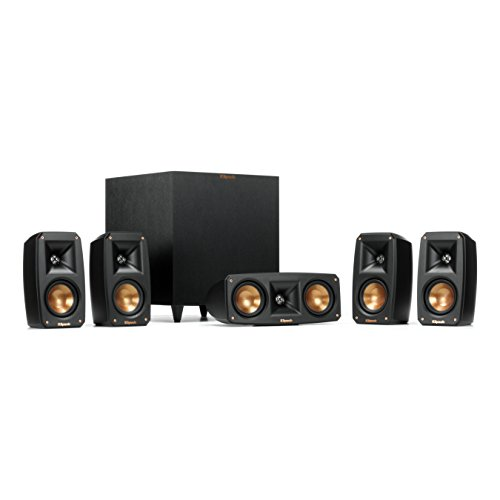 Klipsch Black Reference Theater Pack 5.1 Surround Sound System (Wireless Sound Theater Surround)