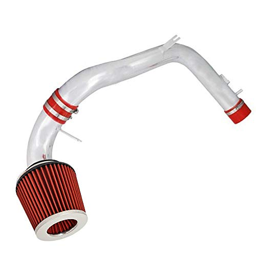 For 1999-2003 Ford F-250 F-350 F-450 F-550 Excursion 7.3L V8 Engine Only 4 Inch Aluminum High Flow Air Intake Kit Red Heat Shield Pipe with Filter