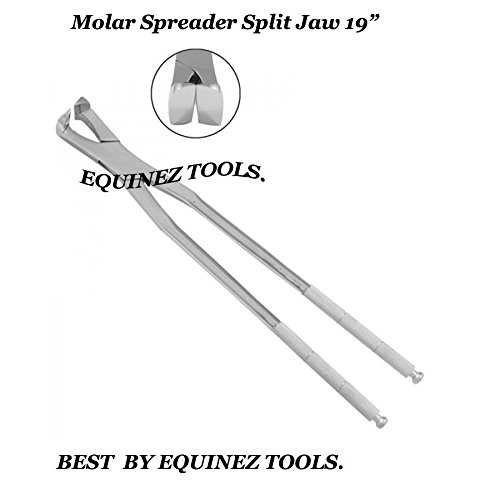 19  Equine Molar Spreader Forceps with Pouch, Stainles Steel,Equine dental