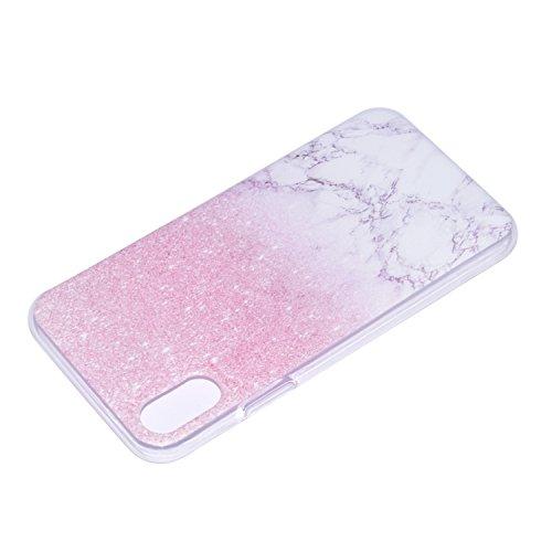iPhone X Custodia , Leiai Moda Marmo Soft Silicone Morbido TPU Cover Case Custodia per Apple iPhone X