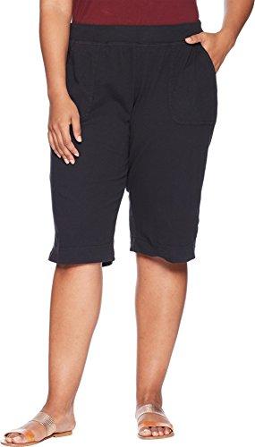 Extra Fresh by Fresh Produce Women's Plus Size Key Largo Pedal Pusher Black 2X 15