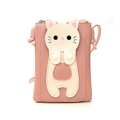 les femmes téléphone bandoulière portable à téléphone 18x14x2cm pour de sangle mignon Sac de sac avec filles portable une longue unique sac kitty chat pg74qwZ
