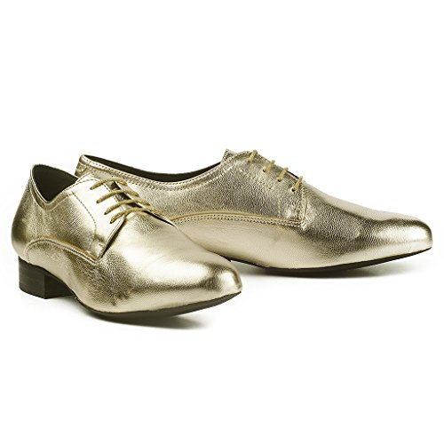 Buffalo Damen ES 30848 Glitter Derby Gold (Ouro)