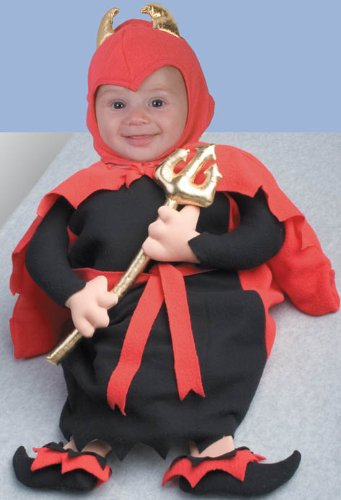 Adorable Lil Devil Costume Baby Bunting