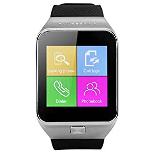2014 Newest ZGPAX Bluetooth V3.0 Smart Watch Unlocked SIM Phone Watch Smart Bracelet Sync Call Music Reminder Anti-lost Sports Partner Capacitive Touchscreen Phone Mate for iphone 5S 5C Samsung Galaxy S5 Note 3 HTC One LG G3 by Excelvan