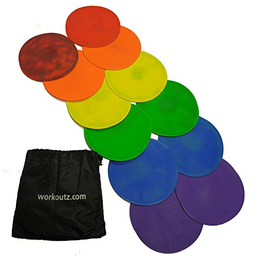 Workoutz Multicolored Agility Dots (12 Qty) with Carrying Bag by Workoutz