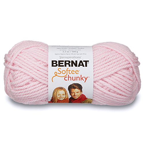 (Bernat Softee Chunky Yarn, 3.5 Oz, Gauge 6 Super Bulky, Baby Pink)