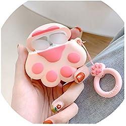Bonita Huella de Gato para Airpods Ear Cover Bluetooth Headset Protect Shell Interesante Funda de Auriculares 3D Silicona Soft Shell, Style 1, Tamaño