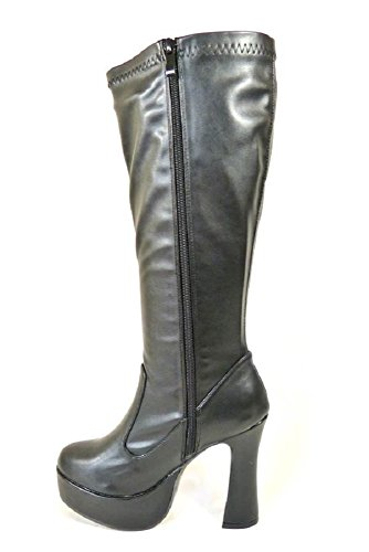 Size 60s 3 Boots Ladies Party 6 Go 11827 Go Dress 70s 7 Fancy Various 8 Black 4 Retro Womens Designs Matt 5 0wngnqA4v